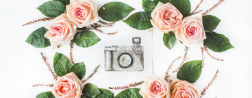 Watercolor retro camera