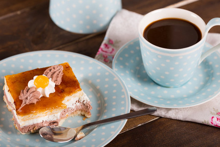 Snack with coffee and cake