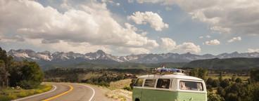 VW Bus on Colorado Road