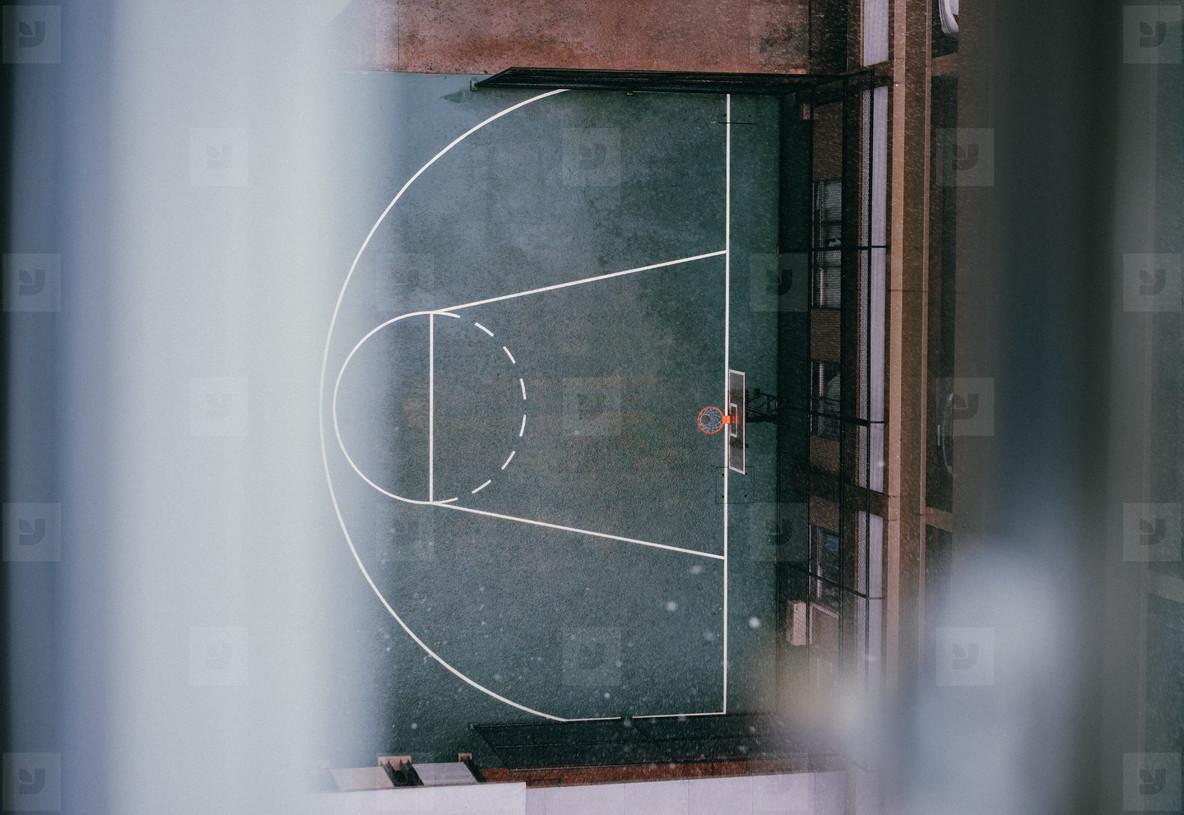Rainy Basketball Court