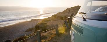 VW Bus on California coast