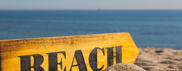 Wood Sign Beach