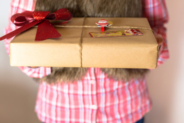 Girl presenting a gift