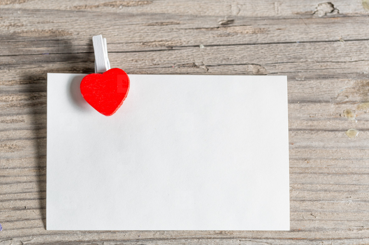 Paper with a heart