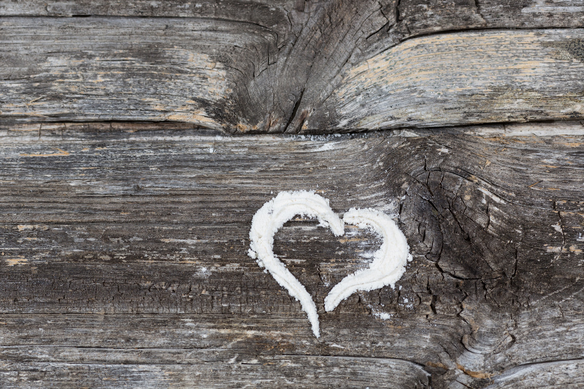 Heart drawn
