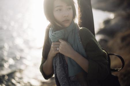 Asian girl on summer holidays 10