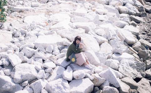 Asian girl on summer holidays 15