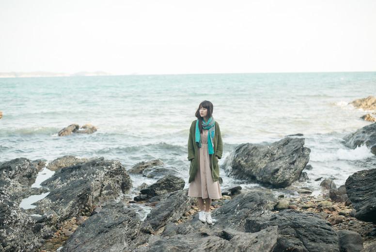Asian girl on summer holidays 17