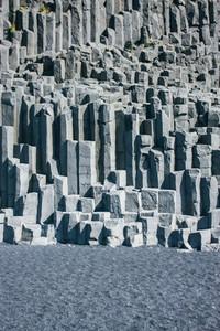 Texture Of Icelandic Stones Basalt Columns