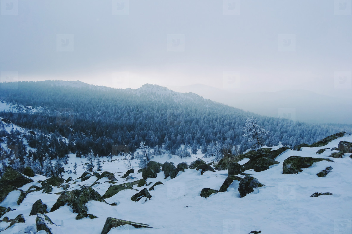 Ural Mountains Landscape and Sunlight