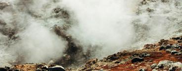 Icelandic landscape  hotspring in Landmannalaugar