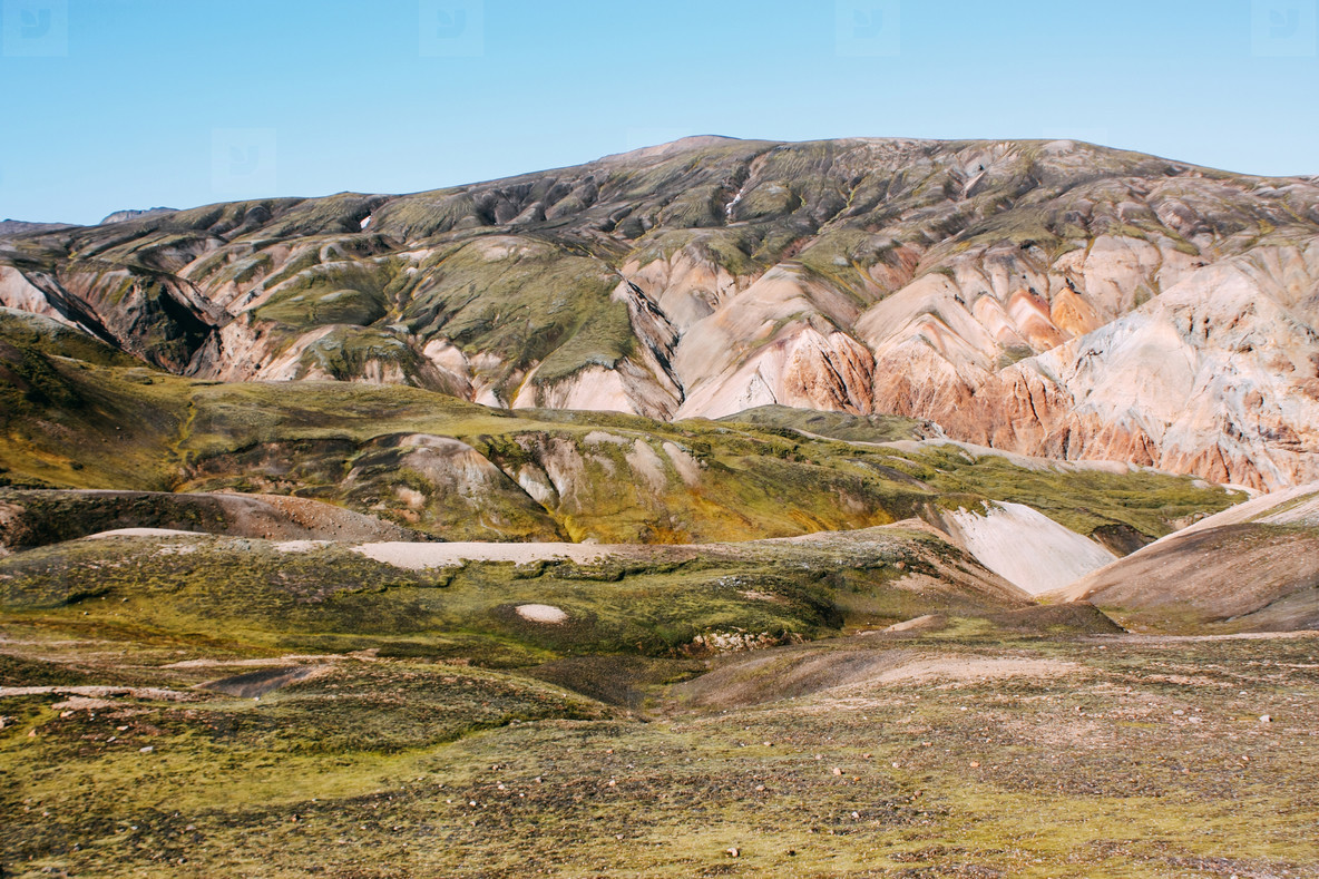 Icelandic landscape  Beautiful mountains and volcanic area