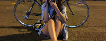 Young woman with bike  07
