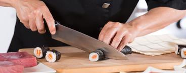 Chef preparing sushi
