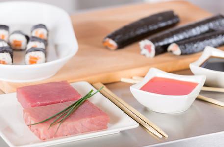 Delicious sushi prepared
