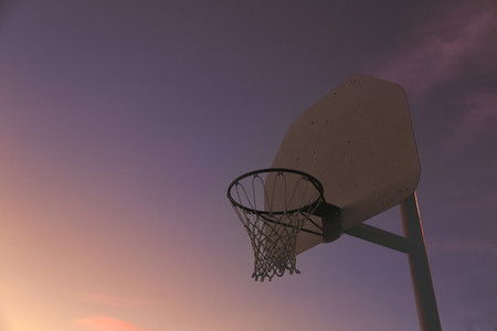 Basketball ring and sky