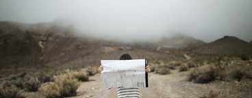 Girl lost with map