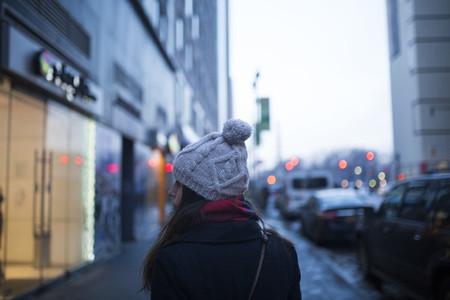 Girl walking in Manhattan