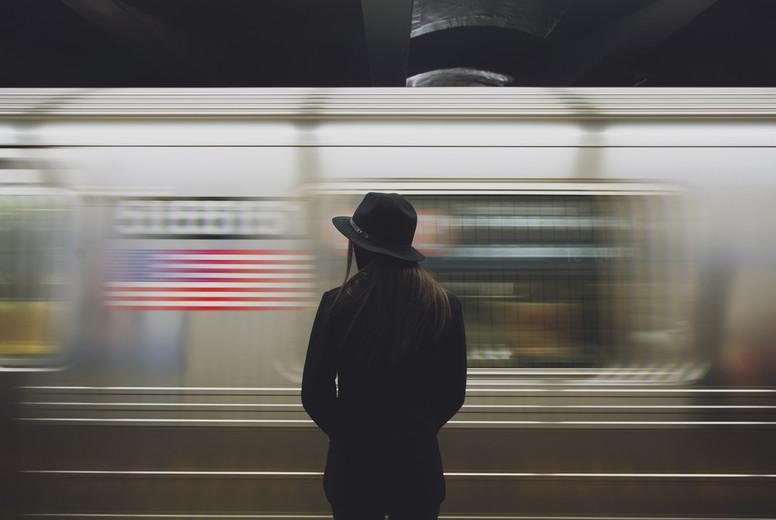 Girl and subway