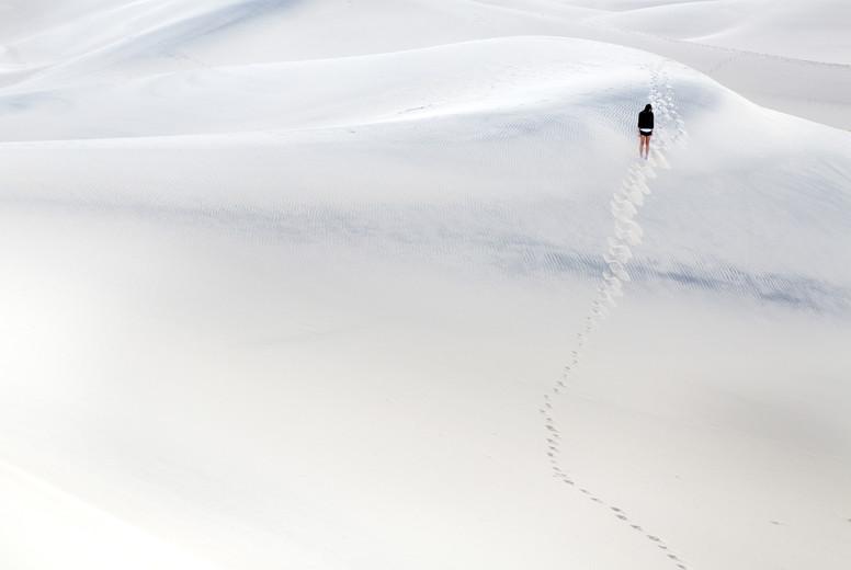 Lone figure in Sand dunes