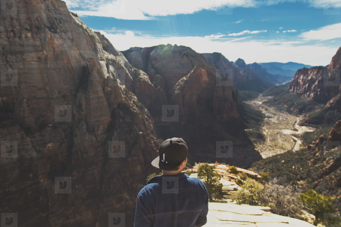 Man hiking mountains  003