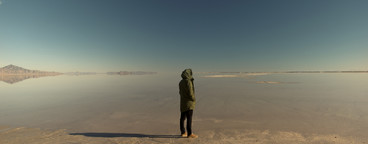 Man on salt flats  002