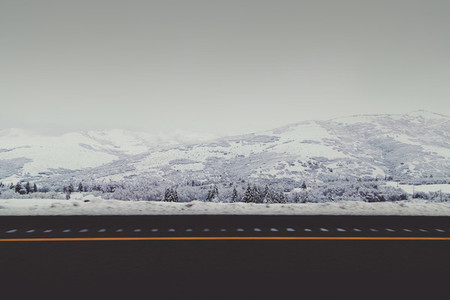 Road and snow