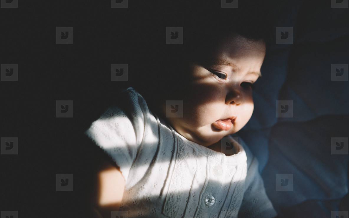 Baby in Window Shadows