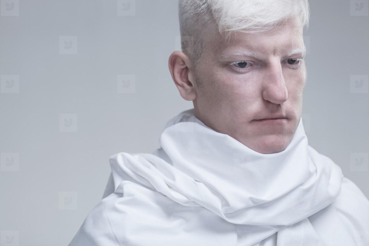 Futuristic Albino Man  01