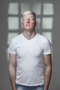 Futuristic Albino Man  02