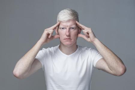 Futuristic Albino Man  03