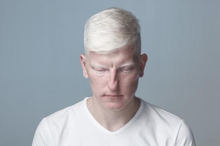 Futuristic Albino Man  04