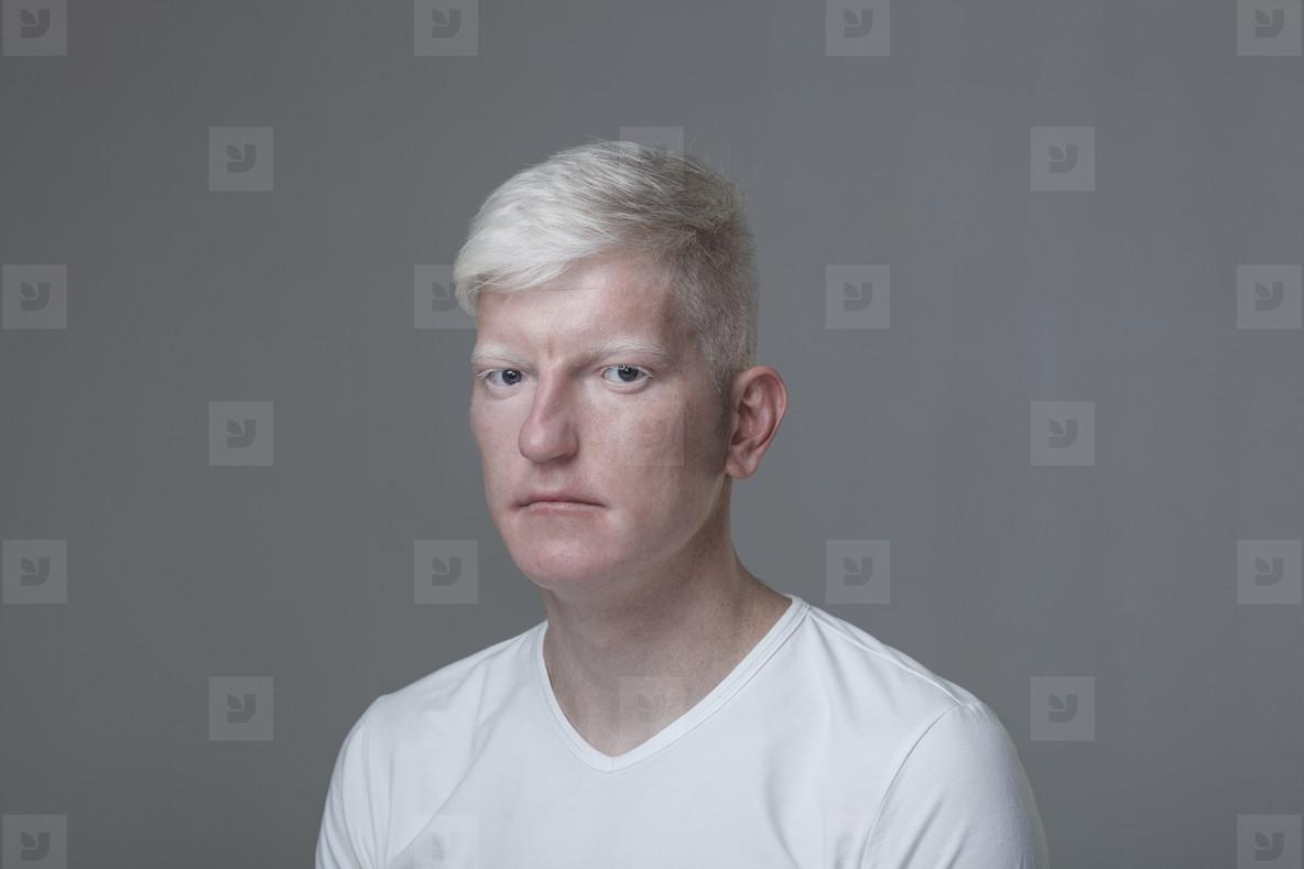 Futuristic Albino Man  06