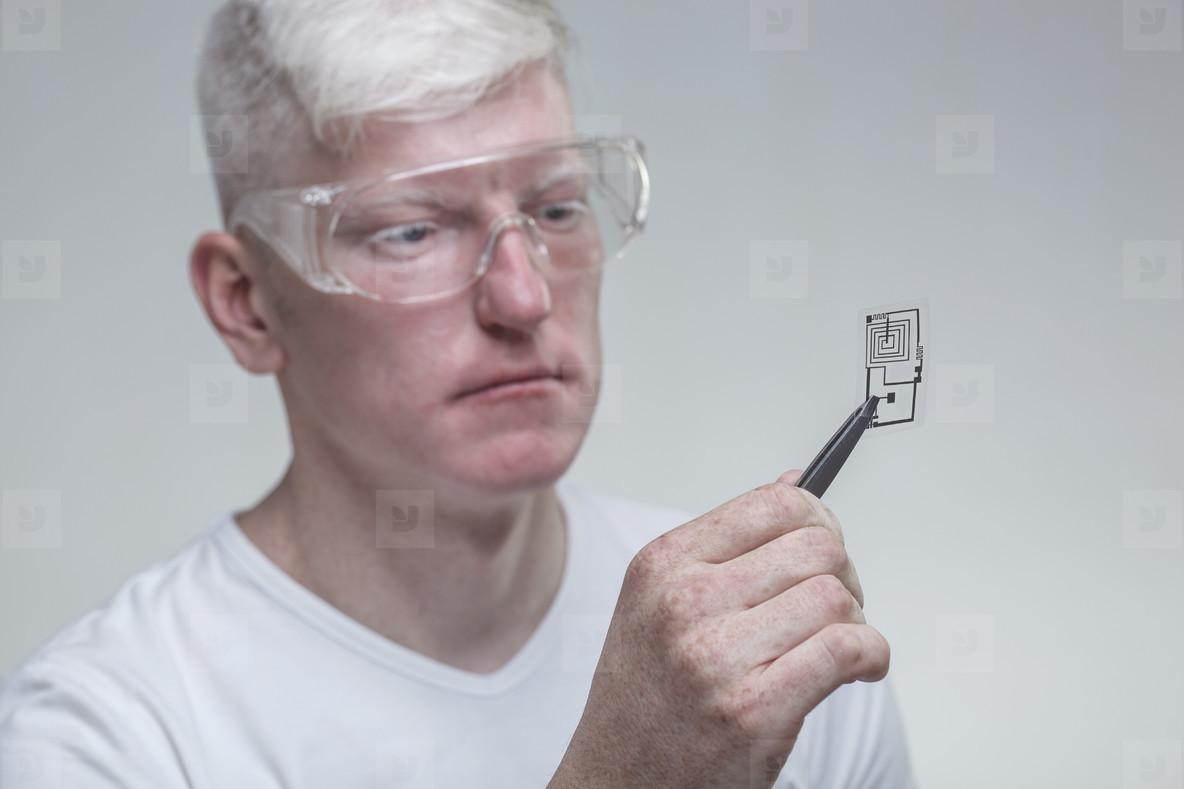 Futuristic Albino Man  07