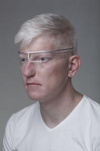 Futuristic Albino Man  08