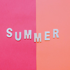 Summer wooden alphabet