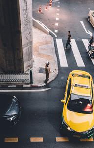 Bangkok Taxi   Traffic Cop