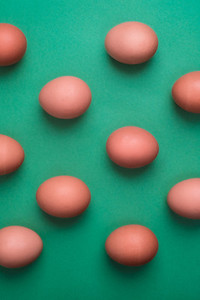 Eggs viewed from above