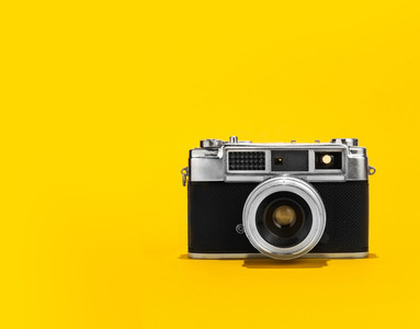 Retro analog film camera
