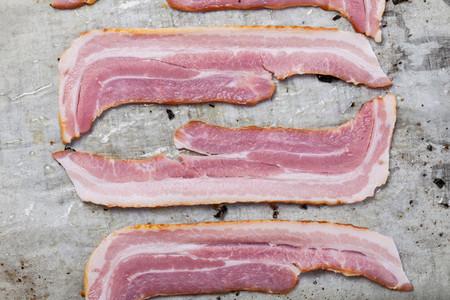 Fresh bacon strips