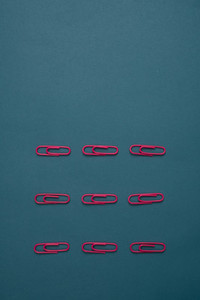 Pink paperclips