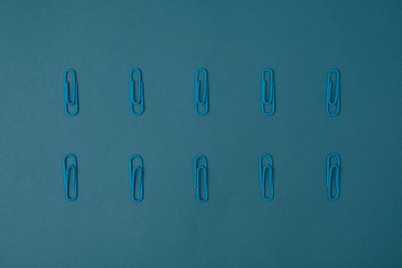 Blue paper clips
