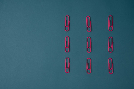 Pink paper clips