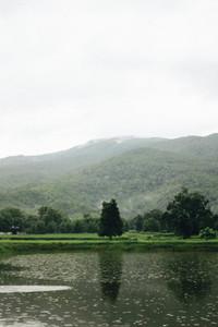 View of mist morning at Mae Hia
