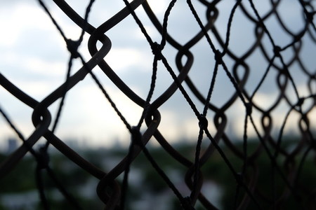 Close up of wire fence