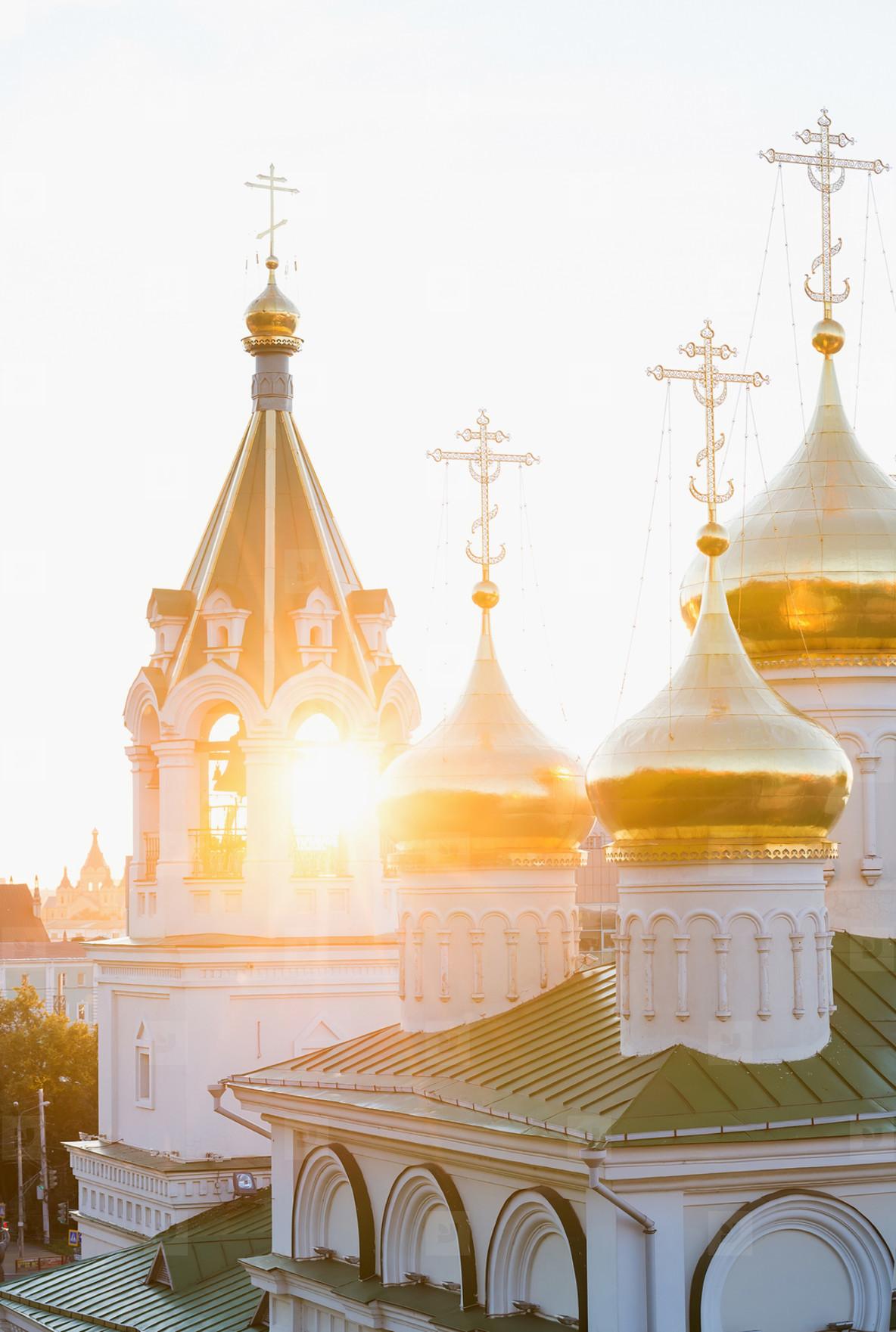 Church in a sunset rays  Nizhniy Novgorod  Russia