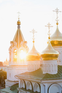 Church in a sunset rays  Nizhniy Novgorod  Russia