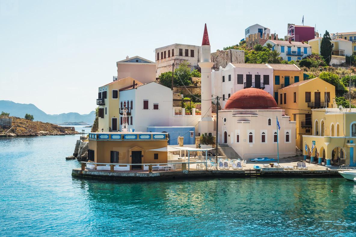 View over Gre ek islands Kastelorizo