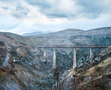 The highest railway bridge in Europe near Kolasin