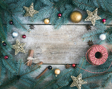 Christmas  New Year  decoration background  fur tree branches  g